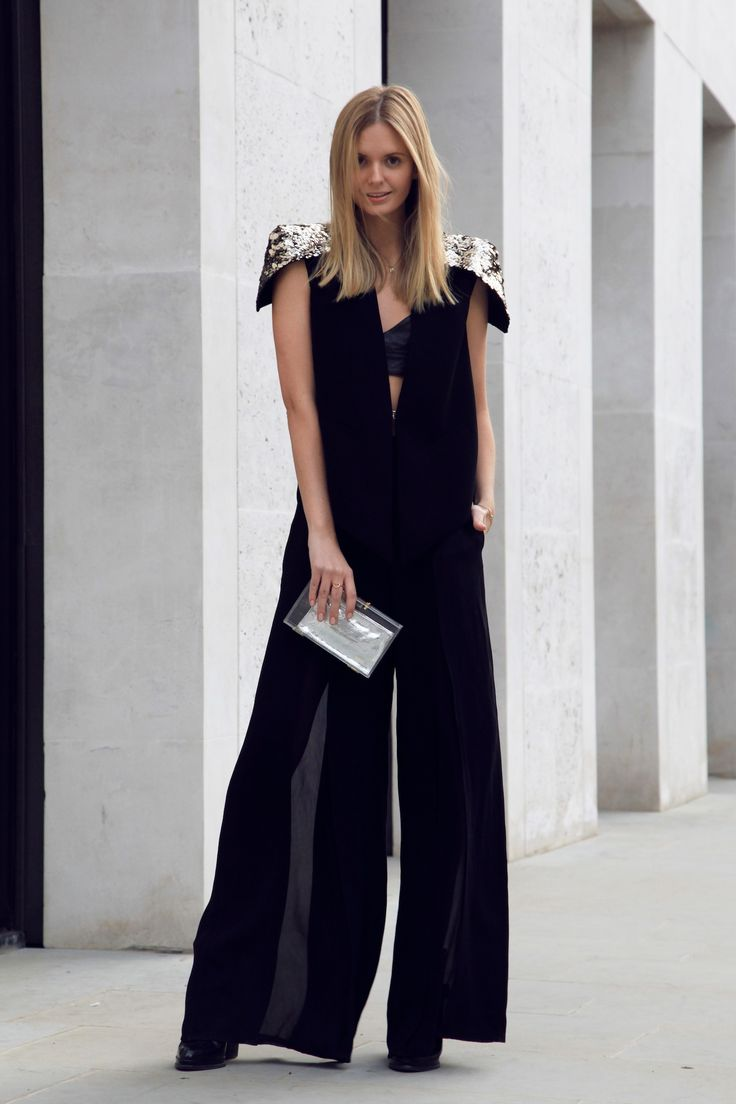 AIR: Sass & Bide top and pants, Maurie & Eve bralette, MNO.logie clutch, Zara boots, Gorjana bracelet and necklace, Jacquie Aiche rings.