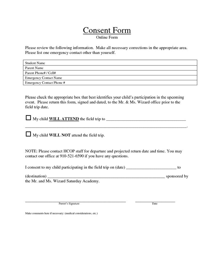 Blank Medical Forms  Medical Release Form For Adults Medical