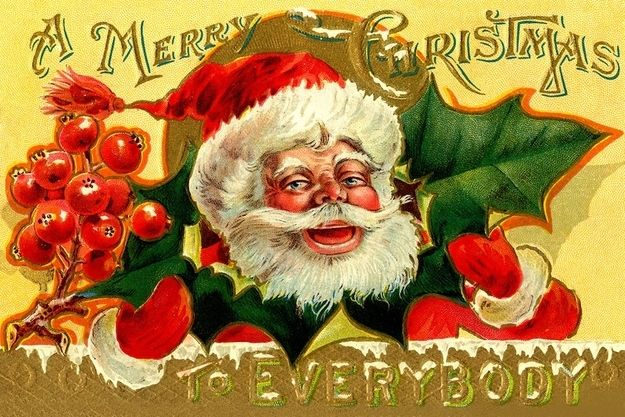 "This Santa of the early 1900s: ""Wassssssaaaaaahhhhh."" 