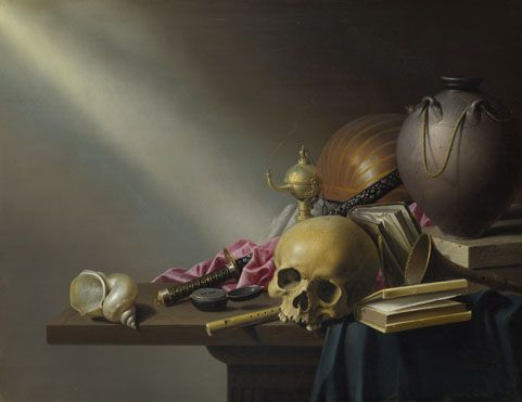 Harmen Steenwyck: 'Still Life: An Allegory of the Vanities of Human Life' © The National Gallery, London