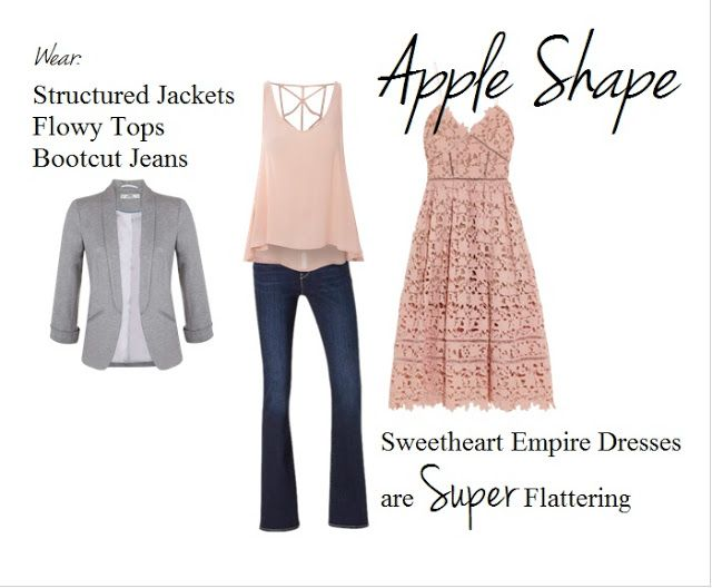 How to dress if you are an apple shape. Dress for your body shape and look amazing