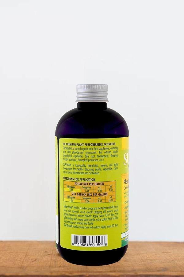 SuperGain Liquid Plant Food Supplement  Organic premium plant