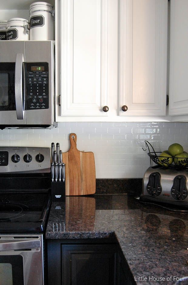 update your kitchen with a no mess no fuss tile backsplash from smart - No Backsplash In Kitchen