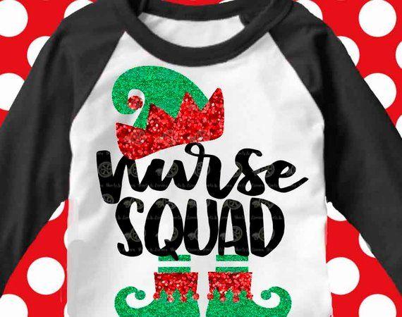 Nurse Christmas Svg.Nurse Elf Squad Svg Christmas Svg Nurse Svg Nurse Elf