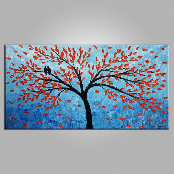 Landscape Oil Painting Canvas Painting Original by Topfineart
