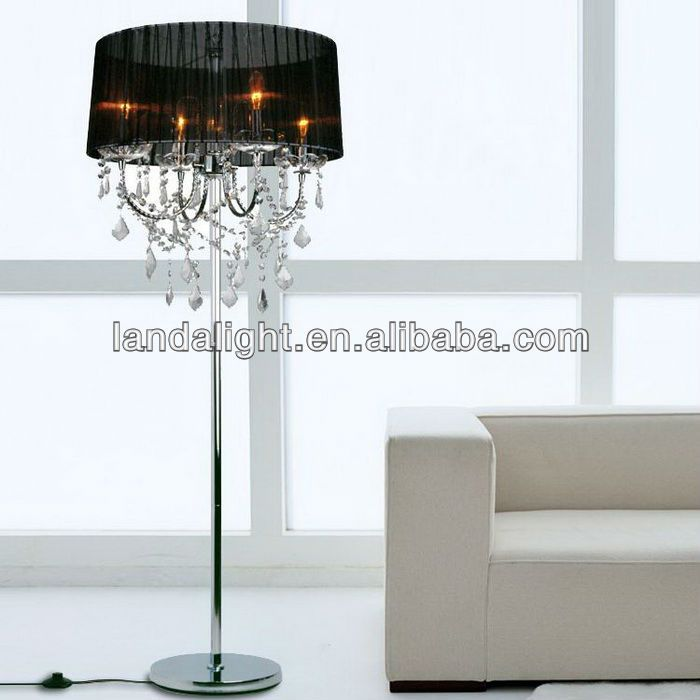 Wholesale best selling modern crystal chandelier floor for Homebase chandelier floor lamp