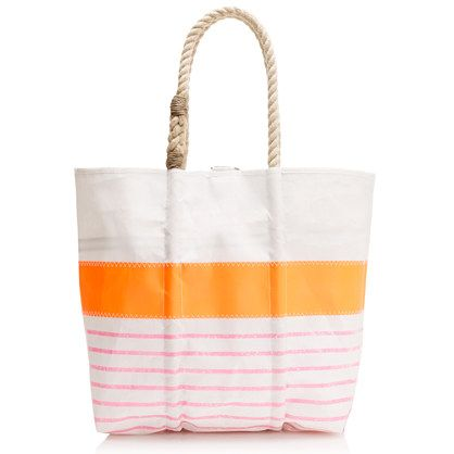 Sea bags® for J.Crew medium tote    Love that these are made from reclaimed boat sails *and* made in Maine.