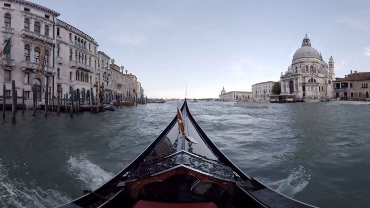 360 video: Gondola in Venice, Italy, virtual reality video, VR, 360 / It would be a sin to visit Venice without seeing the narrow streets and canals from the beautifully carved gondola. These wooden beauties are approximately 11m long and their left side is always a little bit longer than the right one to make it easier for gondolier to maneuver it.