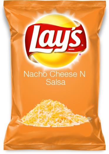Nacho Cheese N Salsa chips lays flavour potato