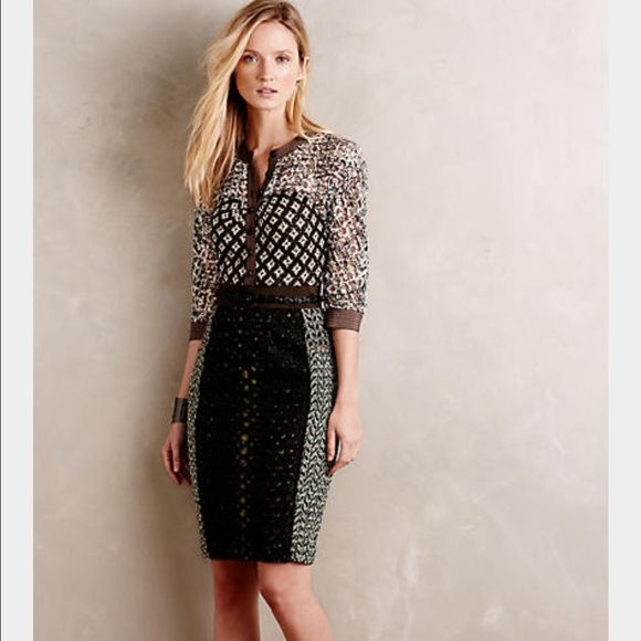 Anthropologie dress brand new with tags Beautiful Byron Lars dress, comes with belt. Anthropologie Dresses Midi