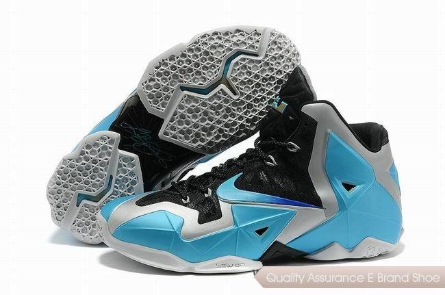 Nike LeBron 11 Black Silver Blue Basketball Shoes. cheap lebron 11 shoes  sale online -