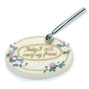 Spring Floral Oval Base (with inscription) 4 pen options