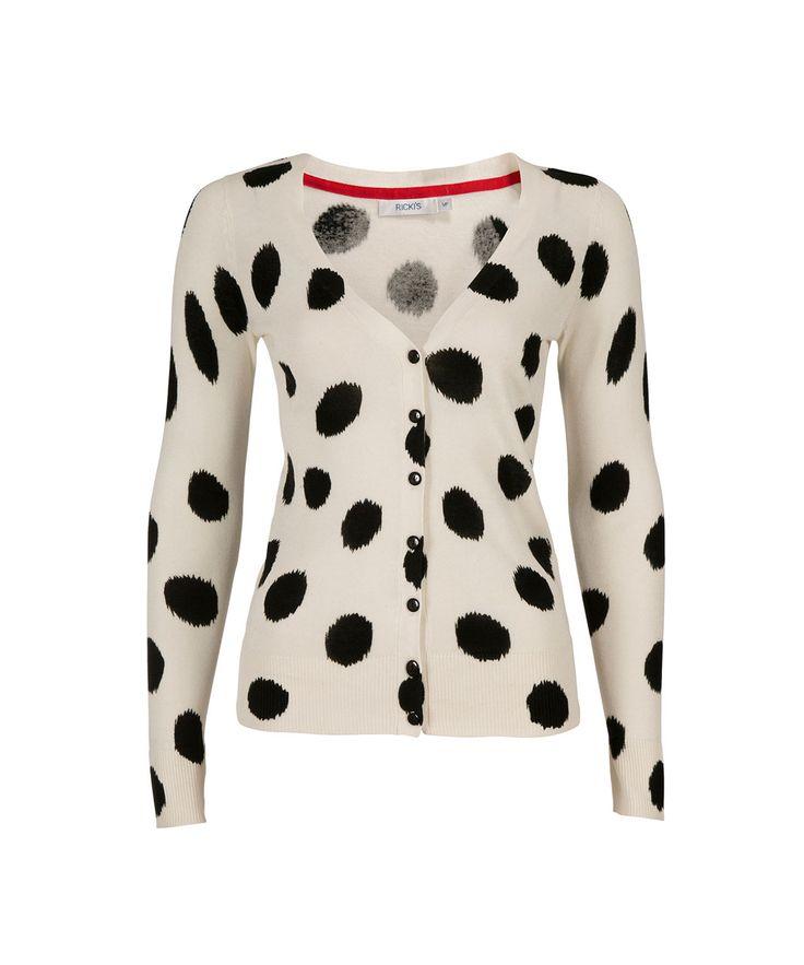 Polka Dot Love Cardi in Ivory / Black #rickis #rickisfashion #loverickis #simplyparisian #winter2015 #spring2015