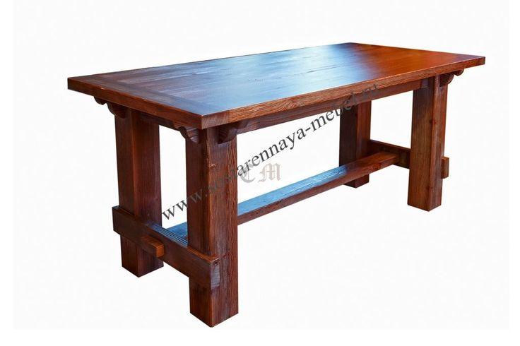 Состаренный стол с патиной