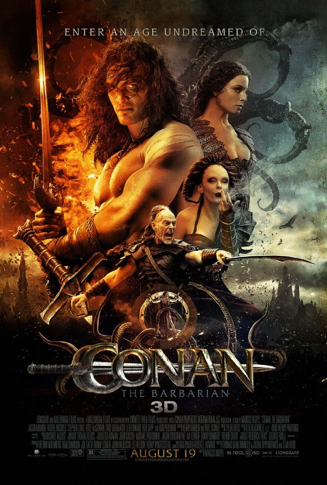 Conan the Barbarian (2011)  An vengeful barbarian warrior sets off to get his revenge on the evil warlord who attacked his village and murdered his father when he was a boy.