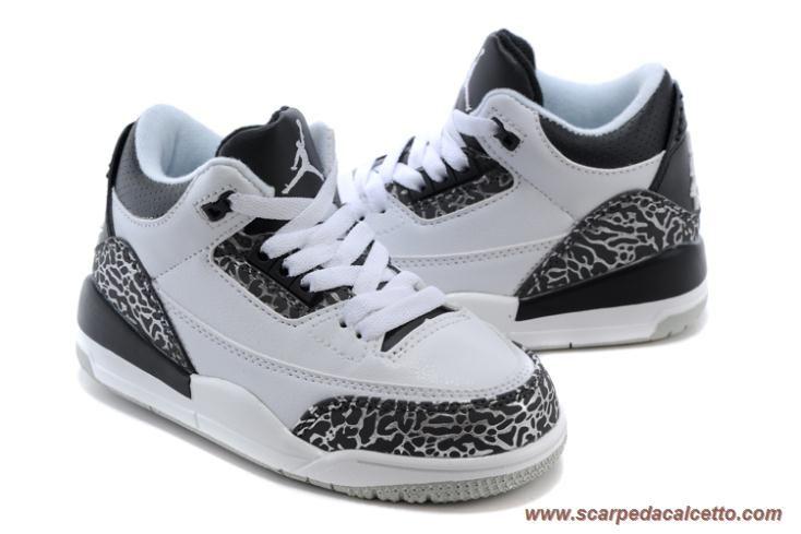 scarpe da ginnastica infrarosso 23 AIR JORDAN 3 RETRO 006064-123 Bianco/Nero-cmnt gry-infrrd Bambini