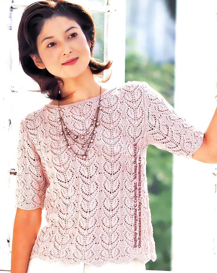 Пуловер спицами ...от Ondori I love aran kint (Япония)