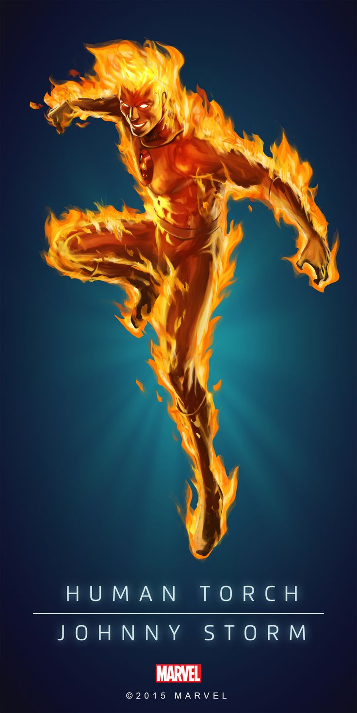 Human_Torch_Classic_Poster_02.png (PNG Image, 2000 × 3997 pixels)