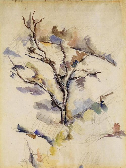 artist-cezanne: The Oak via Paul CezanneMedium: watercolor on...