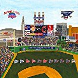 Ceramic Tile Coaster-Cleveland Sports  Cleveland baseball  Progressive Field- Jacobs Field  Cleveland Sports Teams- Sports Team Stadium Series  Ceramic Tile  Ceramic Coaster  Decorative Art Work