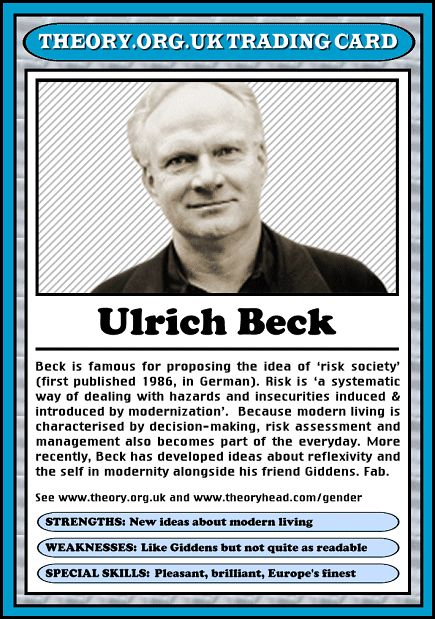 Ulrich Beck - Theory.org.uk trading cards