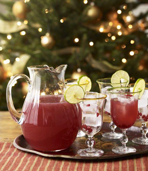 Pomegranate-Apple Cocktails  - CountryLiving.com