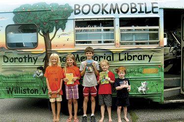 Bookmobile, Dorothy Alling Memorial Library, Williston, Vermont.