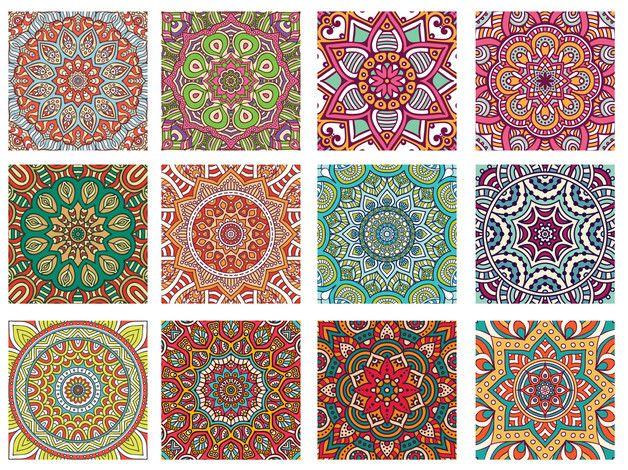 Mandala Fliesenaufkleber Set mit jeweils 12 Stück in der angegebenen Größe. Hochwertiger Vinylaufkleber in hochwertiger Druckqualität. Reib, Kratz & Uv-Geschützt. Die Aufkleber lassen sich...