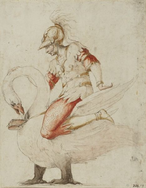 Servant with swan | Francesco Primaticcio | Nationalmuseum, Sweden | CC BY-SA