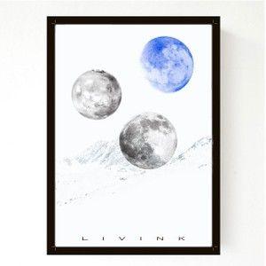 Moon n´back blue