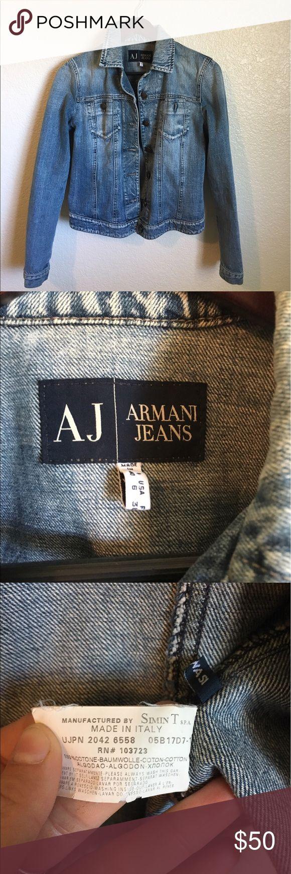New condition Armani jean jacket New condition Armani jean jacket never worn Armani Jeans Jackets & Coats Jean Jackets