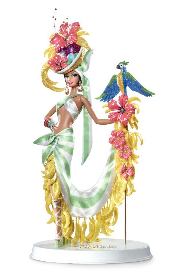 Bob Mackie brasileña plátano Bonanza Barbie Doll - Muñecas de colección de diseño   Barbie Collector