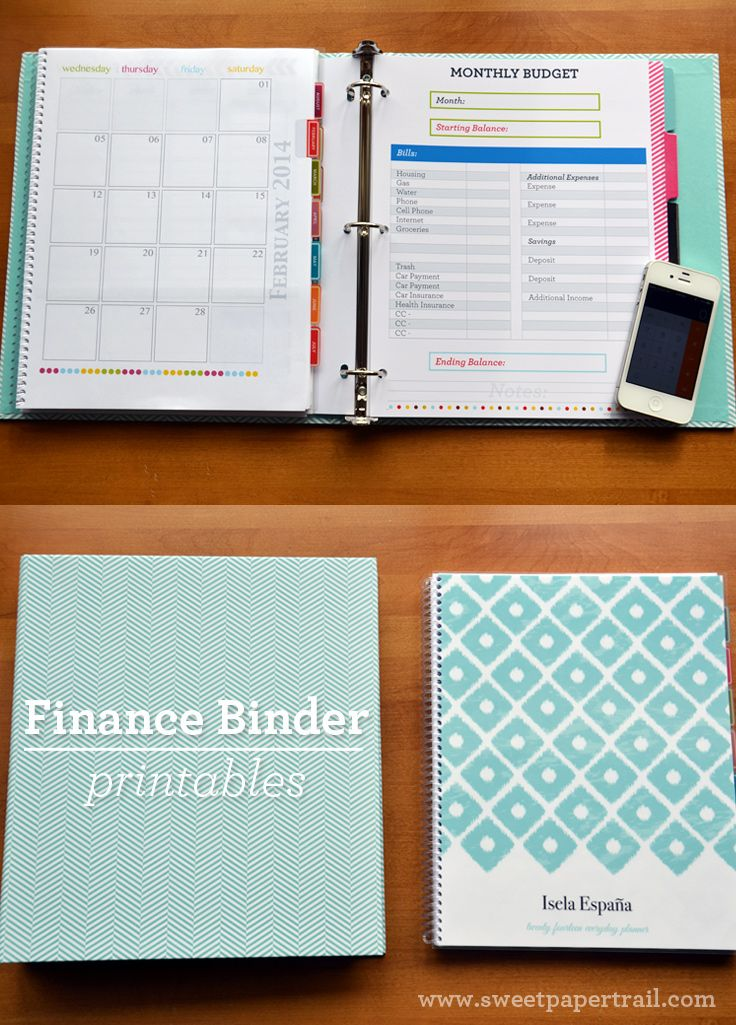 Our Finance Binder - Bill Payment Financial Binder - Sweetpapertrail #finance #financebinder #householdbinder #printable #organize #bills