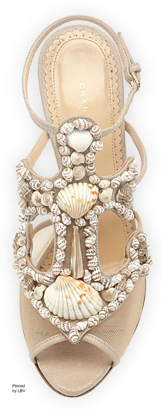 Charlotte Olympia Shore Thing Canvas Anchor Sandal, Natural | beach resort chic /k