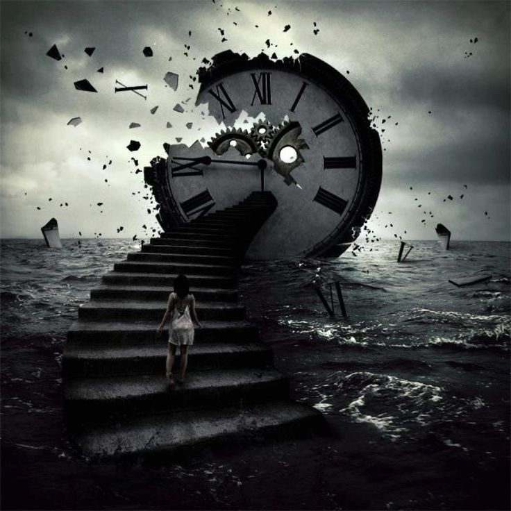 this image to me mesans the loss of time... it show the world breaking around down and the clock being destroyed it is really effactive and the use of photoshop is really good cause it makes it look like its real