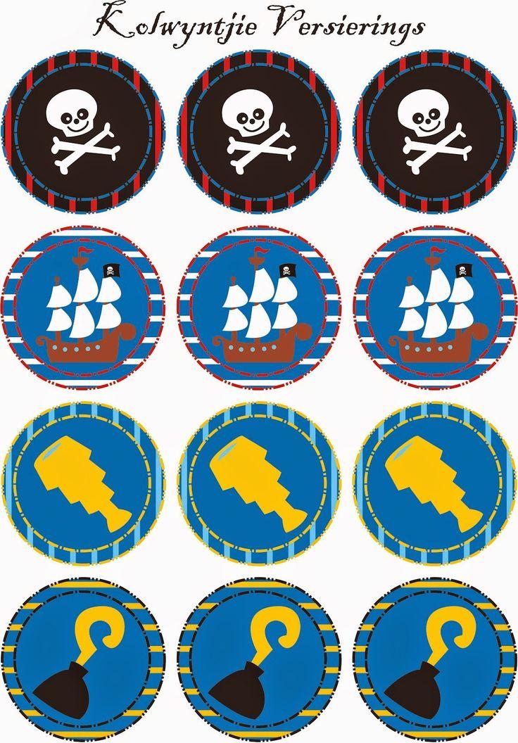 Mini Kit de Piratas para Imprimir Gratis.