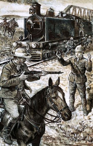 Winston Churchill captured by the Boers
