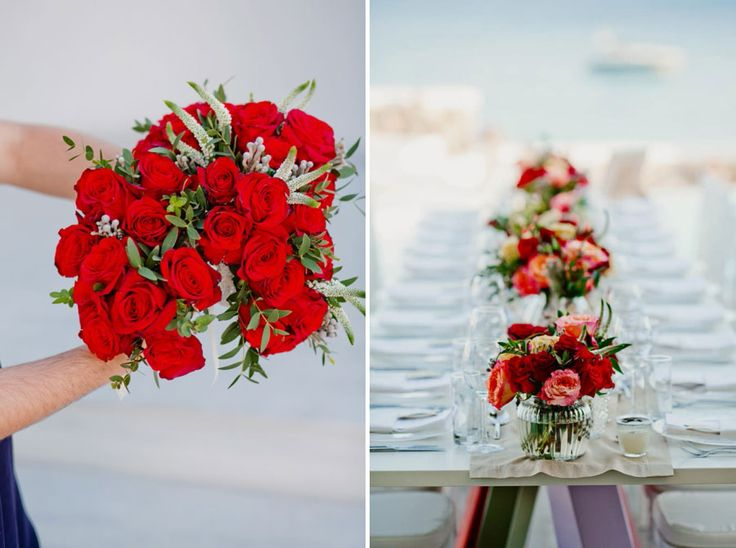 Bridal bouquet, a sum of vivid red roses to celebrate love and passion