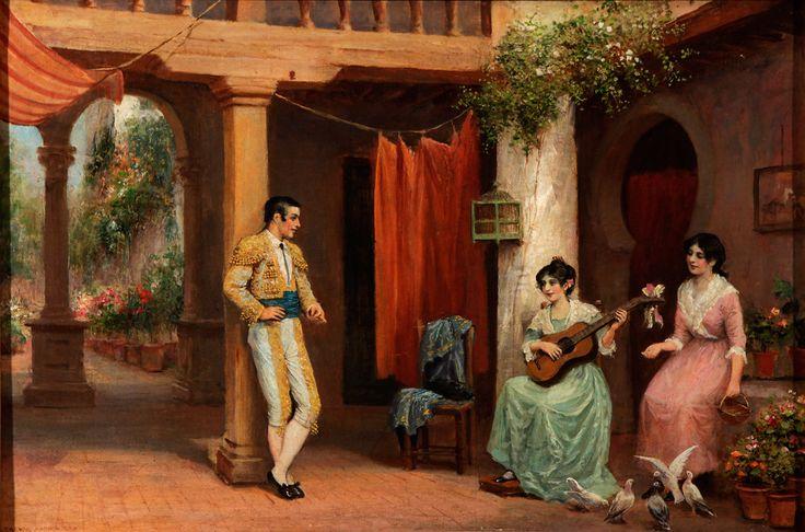 Festejo del torero .Arthur Trevor Haddon (británico, 1864 – 1941)