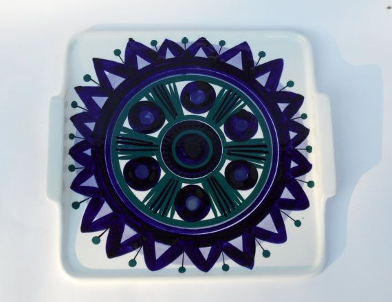 Arabia of Finland Atelje tray platter very rare by Coollect
