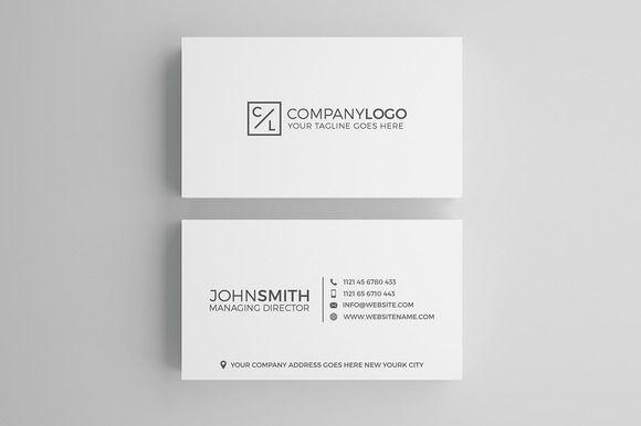 Minimal Modern Business Card Design by Shahjhan on @creativemarket