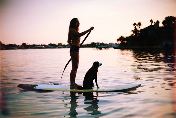 SUPing with your furry friend