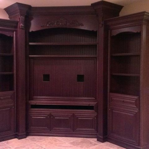 Corner Entertainment Center Design Ideas, Pictures, Remodel, and Decor