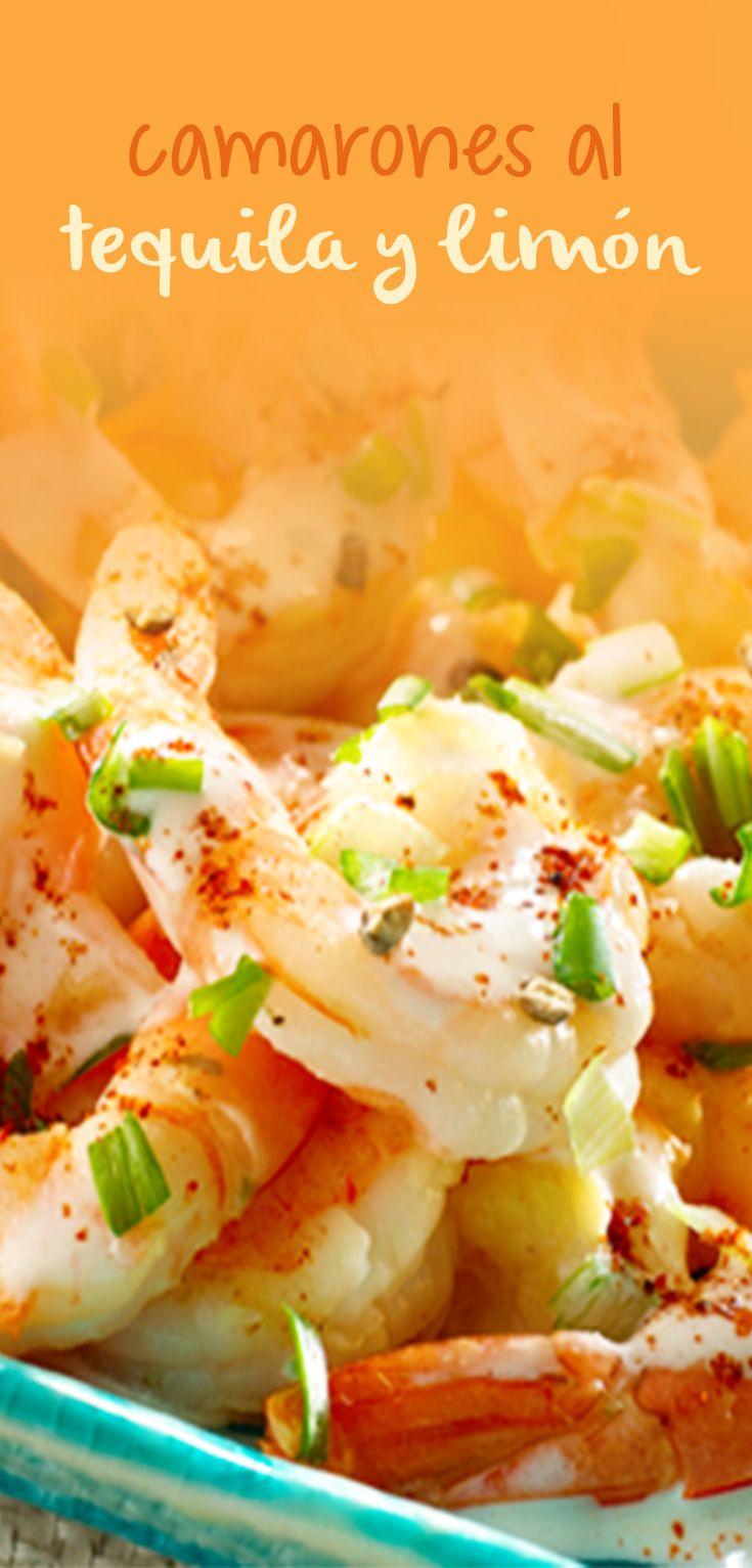 Riquísima receta de camarones al tequila y limón es ideal para compartir con la familia y amigos.