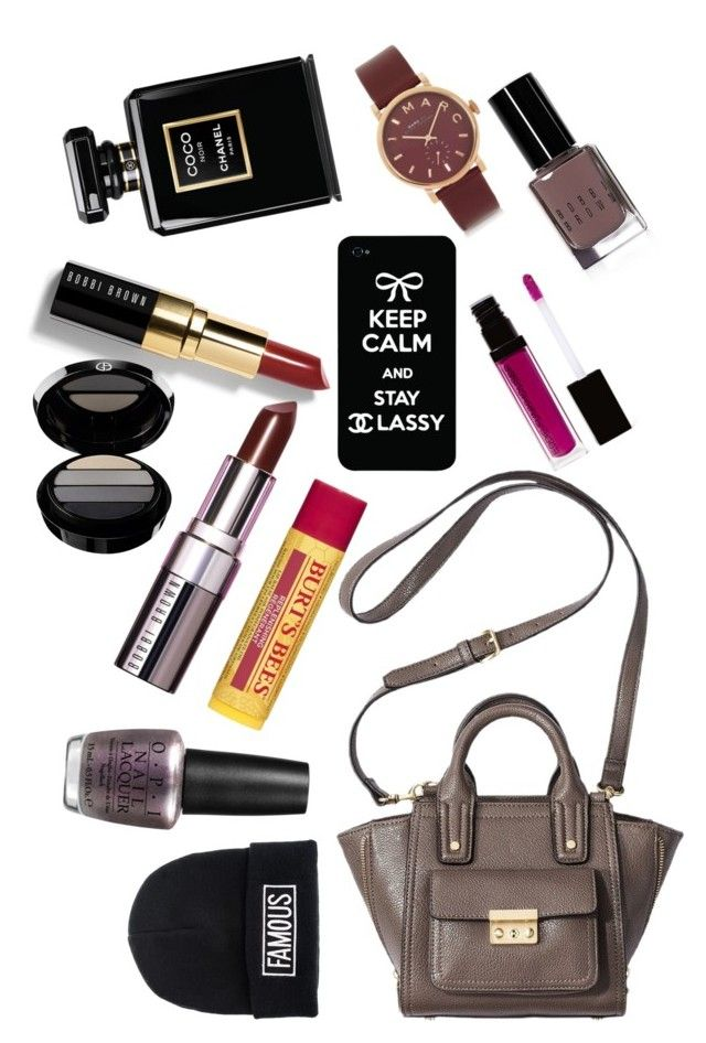 """""""A look inside A/W 2014"""" by nkhandia ❤ liked on Polyvore featuring beauty, 3.1 Phillip Lim, Bobbi Brown Cosmetics, Quiz, Chanel, Giorgio Armani, Burt's Bees, OPI and Marc by Marc Jacobs"""