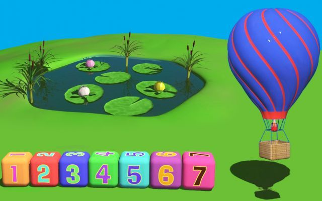 Cartoni animati per bambini una bellissima mongolfiera