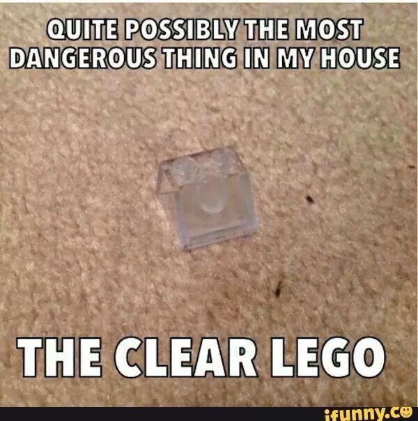 Makes me think of the Dear Ryan video: Dear Ryan can you step on a Lego?