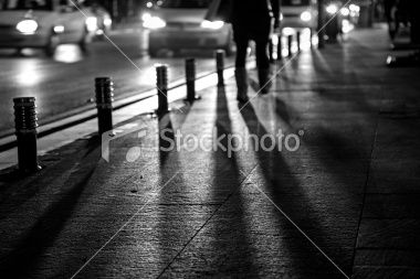 Traffic At Night 2 (Royalty Free Stock Photo) (...by me)