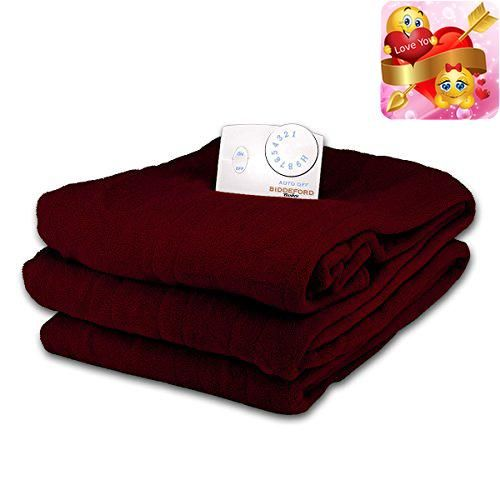 #cool Keep warm this winter no matter how cold it gets with this cozy microplush electric heated blanket from #Biddeford Blankets. Made from ultra-soft microplus...