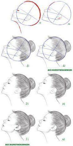 So zeichnen Sie ein Gesicht aus dieser Seitenansicht (weiblich / Mädchen / Nullipara) Einfach…